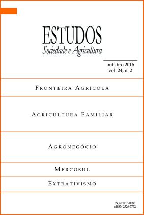Visualizar v. 24 n. 2: Estudos Sociedade e Agricultura (outubro de 2016 a janeiro de 2017)