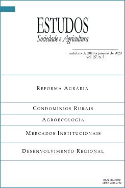 Visualizar v. 27 n. 3: Estudos Sociedade e Agricultura (octubre de 2019 a enero de 2020)