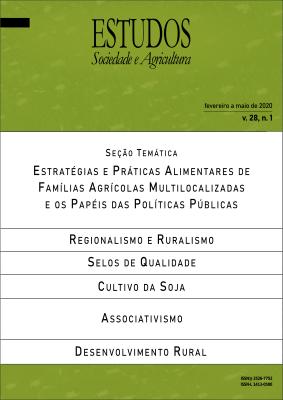 Visualizar v. 28 n. 1: Estudos Sociedade e Agricultura (fevereiro a maio de 2020)